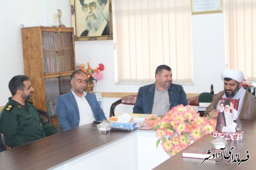 دیدار فرماندار شهرستان آزادشهر با فرمانده سپاه پاسداران به مناسبت روز پاسدار