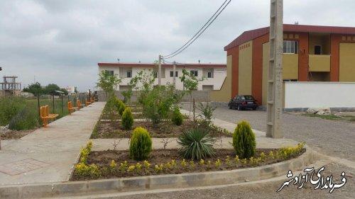 اتمام عمليات اجرايي فاز اول پروژه مسكن مهر نگين شهر به تعداد ٨٠ واحد