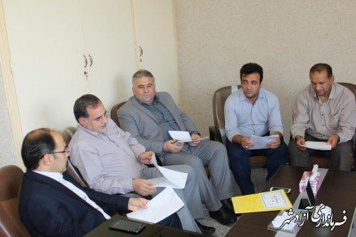 برگزاری کمیته انطباق مصوبات شوراها ی شهر آزادشهر