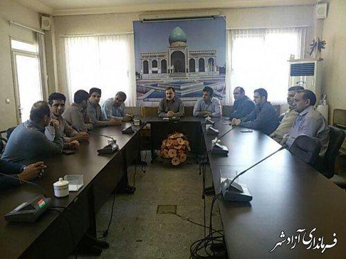 اولین جلسه ورزشی , فرهنگی ویژه کارکنان فرمانداری آزادشهر برگزار شد