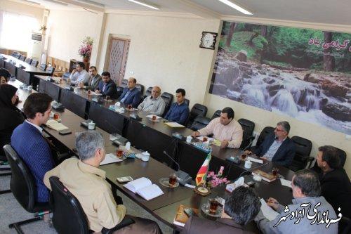 برگزاری جلسه انجمن كتابخانه هاي عمومي شهرستان آزادشهر