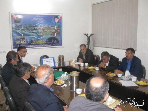 برگزاری نشست هماهنگی روسای اتحادیه های اتاق اصناف و ستاد اربعین و اجلاسیه 4000 شهید استان در آزادشهر