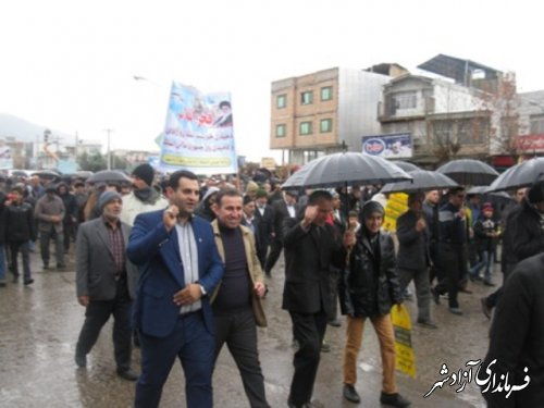 برگزاری راهپیمایی شکوهمند 22 بهمن با حضور پررنگ اصناف و بازاریان آزادشهر