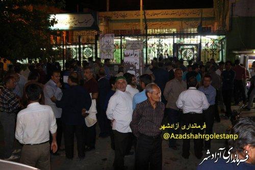 حضور پر شور مردم فهیم شهرستان آزادشهر پای صندوقهای رای