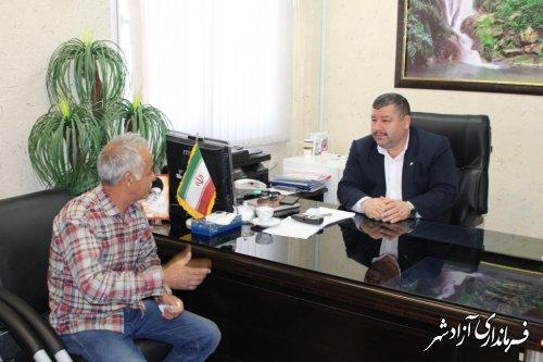 ملاقات عمومی فرماندار شهرستان آزادشهر با مردم برگزار شد