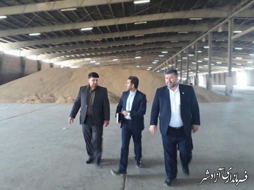 بازدید فرماندار شهرستان آزادشهر از سیلوها و سایتهای ذخیره سازی گندم در سطح شهرستان
