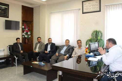 دیدار منتخبین شورای شهر جدید نوده خاندوز با فرماندار شهرستان آزادشهر