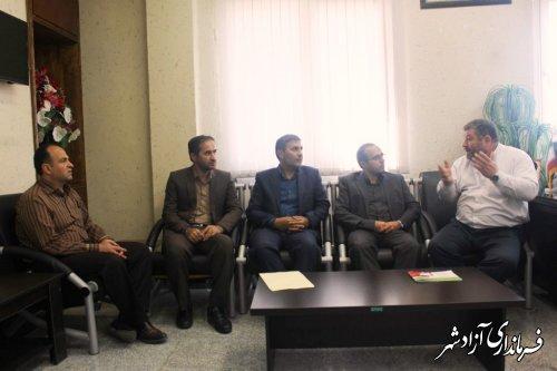 دیدار رئیس و اعضای هیات رئیسه دانشگاه آزاد اسلامی آزادشهر با فرماندار شهرستان