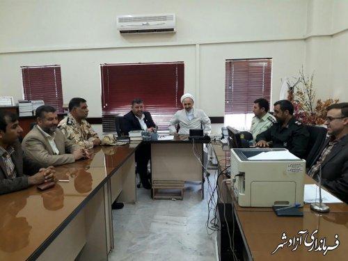 دیدار فرماندار آزادشهر با رئیس دادگستری و دادستان شهرستان
