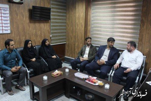 دیدار کارکنان اداره بهزیستی با فرماندار شهرستان آزادشهر
