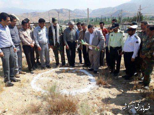 كلنگ زني پايكاه اطفا حريق و ايست و بازرسي منابع طبيعي در بخش چشمه ساران آزادشهر