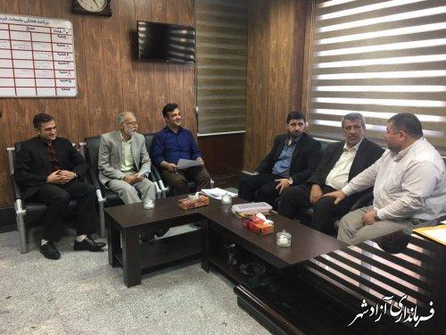 نشست فرماندار آزادشهر با مديركل آموزش و پرورش استان