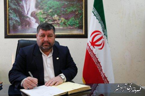 پیام تبریک فرماندار شهرستان آزادشهر به مناسبت روز پزشک