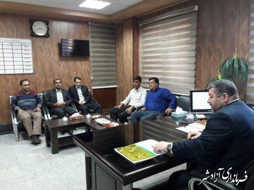 برگزاری انتخاب شورای شهرستان آزادشهر به ریاست شفائی فرماندار