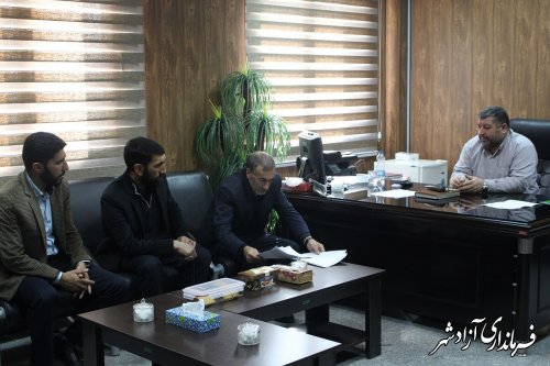 نشست اعضای شورای اسلامی روستای نراب با فرماندار شهرستان آزادشهر
