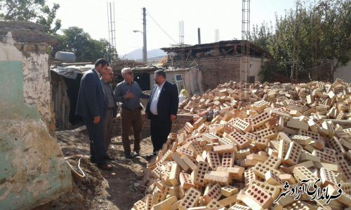 بازدید فرماندار آزادشهر از طرح ساخت و بهسازی منازل محرومین و نیازمندان