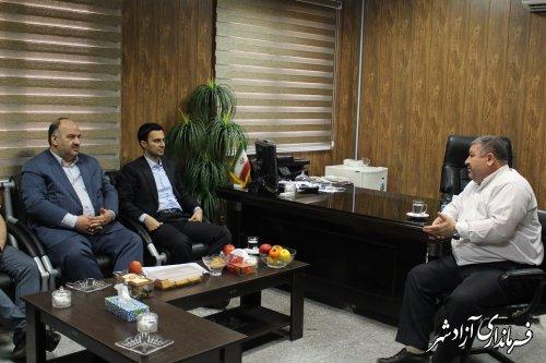 دیدار مدیرکل زندان ها و دادستان آزادشهر با شفائی فرماندار شهرستان