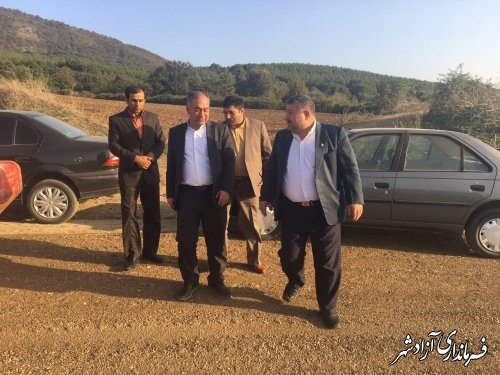 آغاز عمليات اجرايي پروژه زير سازي، بيس و آسفالت جاده نوده خاندوز به سيدآباد