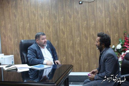 برگزاری ملاقات مردمی فرماندار شهرستان آزادشهر