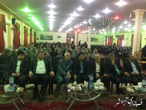 برگزاری همايش دانش آموزی شرق استان در شهرستان آزادشهر