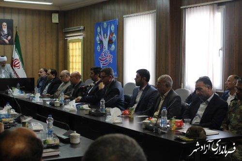 برگزاری جلسه پدافند غیر عامل شهرستان آزادشهر