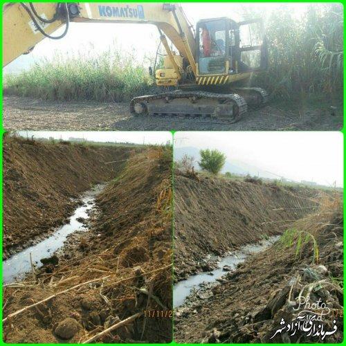 اجرای پروژه های اداره منابع آب آزادشهر در سطح شهرستان
