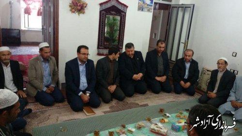 دیدار و عرض تسليت فرماندار آزادشهر با خانواده مرحومین حادثه اتوبوس تهران-گنبد