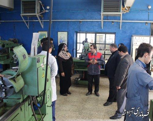 فرماندار آزادشهر در قالب طرح بازدید همگانی از مرکز آموزش فنی و حرفه ای شهرستان دیدن کرد
