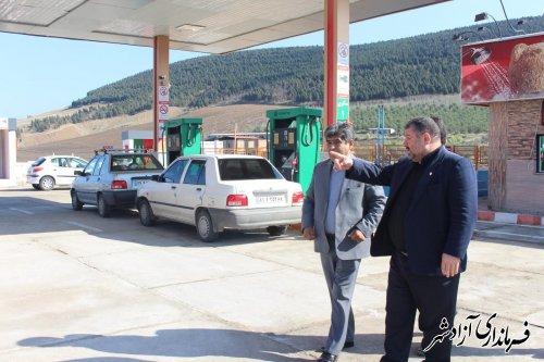 بازدید فرماندار آزادشهر از جایگاه سوخت اختصاصی رازی