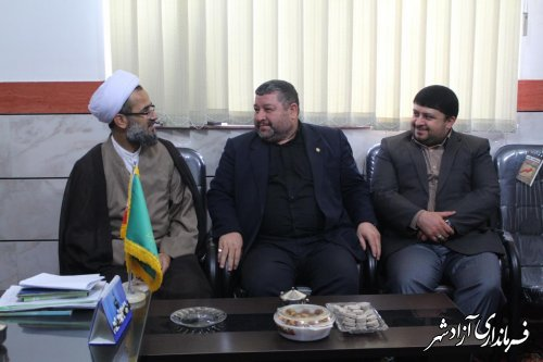 دیدار فرماندار آزادشهر با امام جمعه شهرستان