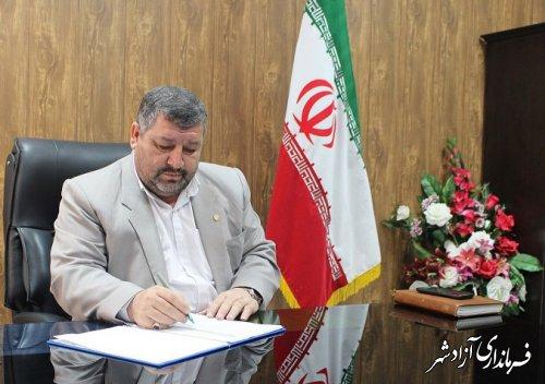 پیام تبریک فرماندار شهرستان آزادشهر به مناسبت هفته وحدت