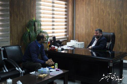 برگزاری ملاقات عمومی فرماندار شهرستان آزادشهر با مردم