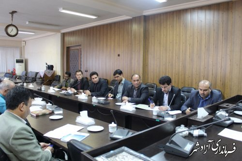 برگزاری جلسه ساماندهی و حمایت از مشاغل خانگی شهرستان آزادشهر