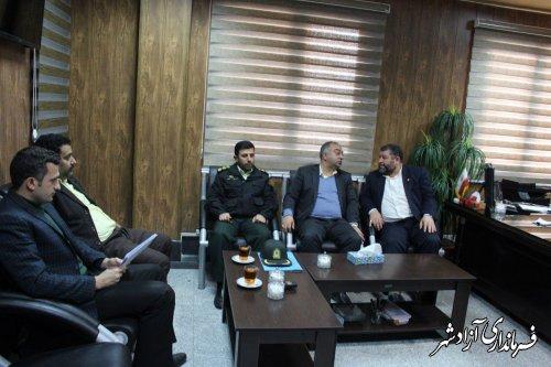 دیدار نماينده مردم رامیان و آزادشهر در مجلس شوراي اسلامي با فرماندار شهرستان آزادشهر