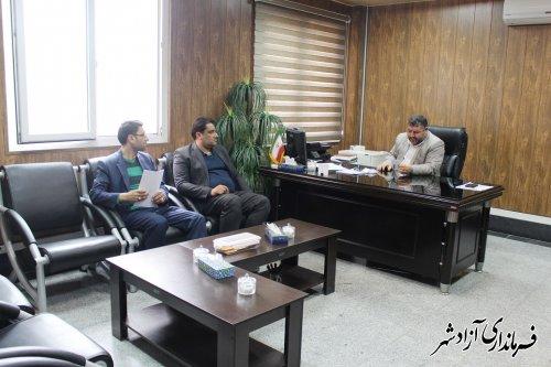 نشست مشترک فرماندار،مدیر اداره توزیع برق و شهردار آزادشهر
