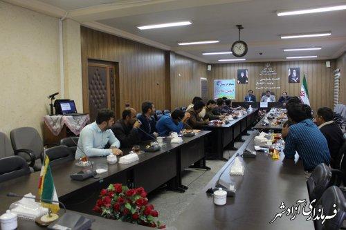 با حضور فرماندار آزادشهر جلسه ماهانه دهیاران بخش مرکزی برگزار شد