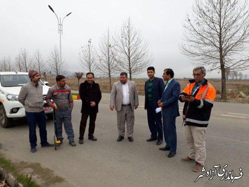 بازدید فرماندار و بخشدار مرکزی آزادشهر از پروژه های اداره برق شهرستان