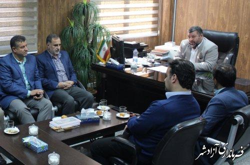 برگزاری جلسه ابلاغ آیین نامه ایجاد اشتغال پایدار روستایی در فرمانداری آزادشهر