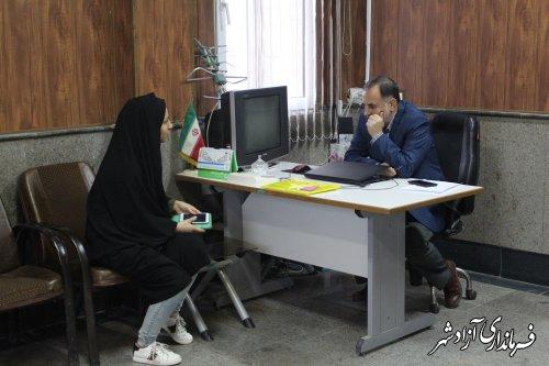 ملاقات عمومی با حضور معاون فرماندار شهرستان آزادشهر برگزار شد