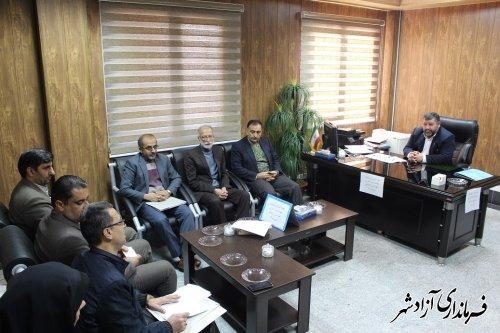 جلسه شورای پشتیبانی سواد آموزی شهرستان آزادشهر برگزار شد