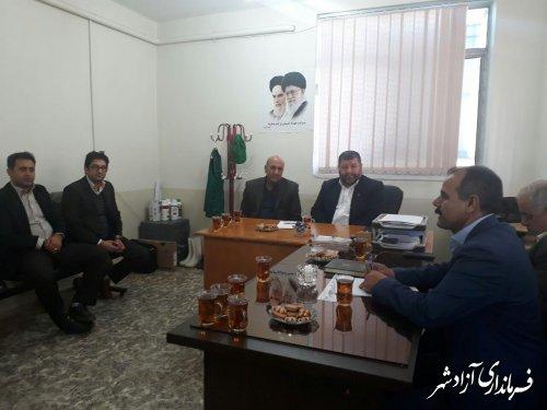 بازدید فرماندار آزادشهر از مرکز جهادکشاورزی خرمارود