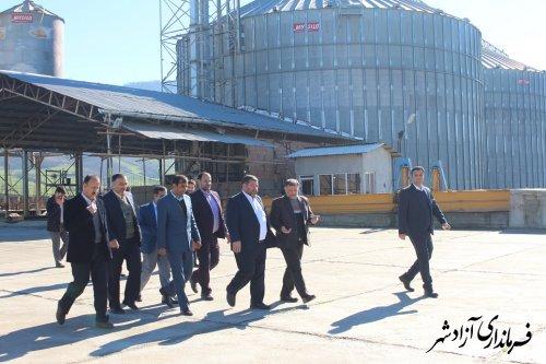 بازدید فرماندار آزادشهر از سیلوی ذخیره سازی گندم خوشه طلایی این شهرستان