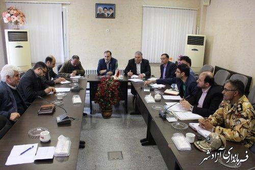کمیسیون کارگری شهرستان آزادشهر تشکیل جلسه داد