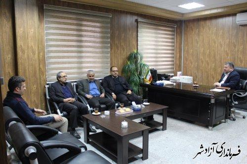 نشست مدیرکل پدافند غیرعامل استان گلستان با فرماندار آزادشهر