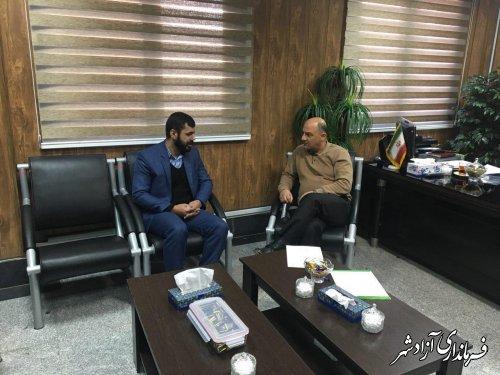 دیدار مدیران ادارات آزادشهر با فرماندار این شهرستان