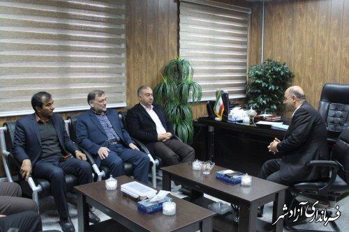 دیدار نماینده مردم آزادشهر و رامیان در مجلس شورای اسلامی با فرماندار این شهرستان
