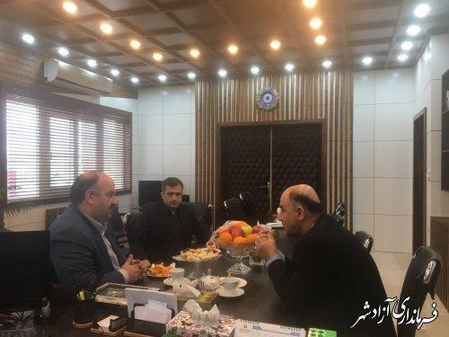 دیدار فرماندار آزادشهر با مدیرکل زندانها و اقدامات تامینی و تربیتی استان گلستان