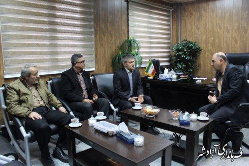 دیدار معاون فنی و آبخیزداری اداره کل منابع طبیعی گلستان با فرماندار شهرستان آزادشهر