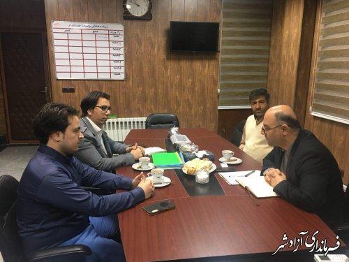 دیدار تعدادی از اصحاب رسانه آزادشهر با فرماندار این شهرستان