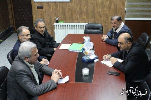 دیدار معاون توسعه مشارکت های مردمی کمیته امداد استان گلستان با فرماندار آزادشهر